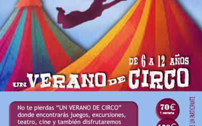 Ampliamos plazo para inscribirse al Campamento Urbano de Circo!